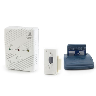 Care Call Carbon Monoxide and Magnetic Door Alarm System with Pager