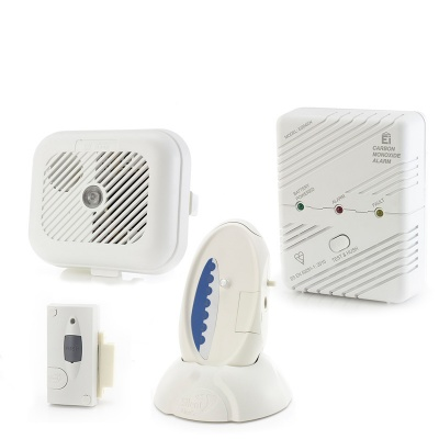 Care Call Smoke, Carbon Monoxide and Magnetic Door Alarm System with Signwave