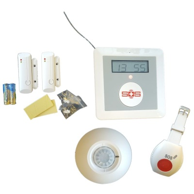GSM Home Care Alarm System with Temperature and Safety Sensors