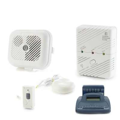 Silent Alert SA3000 Smoke, Carbon Monoxide and Telephone Alarm Pack with Alarm Clock Charger