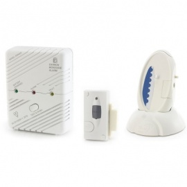 Care Call Carbon Monoxide and Magnetic Door Alarm System with Signwave