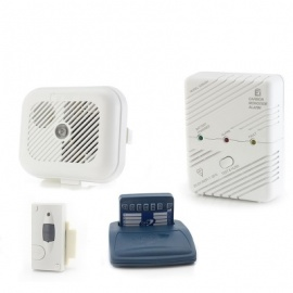 Care Call Smoke, Carbon Monoxide and Magnetic Door Alarm System with Pager