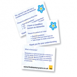 Dementia Patience Cards Refill Pack