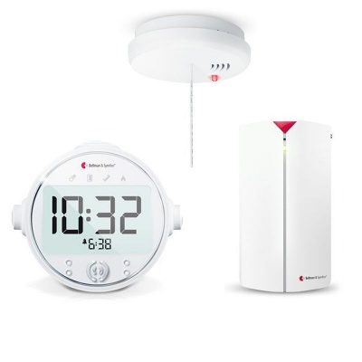 Bellman Visit Alarm Clock, Baby Cry Transmitter and Optical Smoke Detector