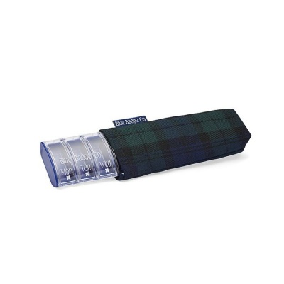 Blue Badge Company Weekly Pill Box and Blackwatch Tartan Carry Case