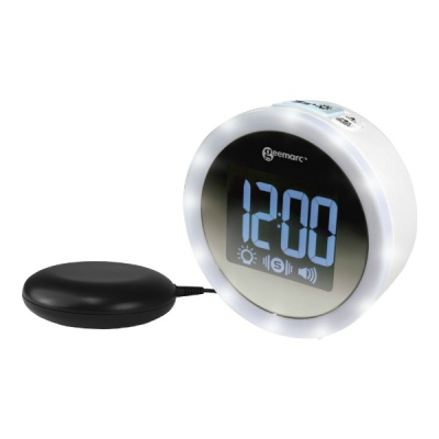 Geemarc Wake 'n' Shake Star Extra Loud Alarm Clock with Vibrating Pad