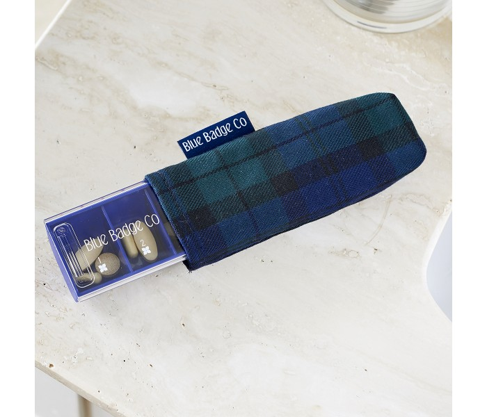 Blackwatch Tartan Carry Case on the Blue Badge Company Everyday Pill Box