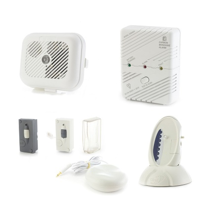 Silent Alert SA3000 SignWave Hard of Hearing Smoke, Carbon Monoxide, Telephone and Outdoor Doorbell Alarm Pack