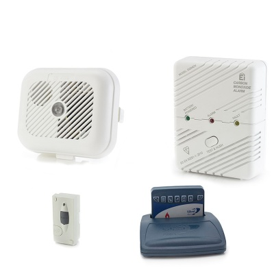 Silent Alert SA3000 Smoke, Carbon Monoxide and Magnetic Door Alarm Pack