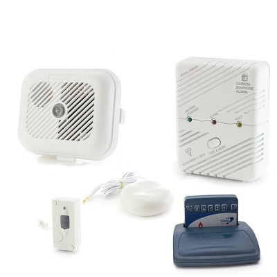 Silent Alert SA3000 Smoke, Carbon Monoxide and Telephone Alarm Pack
