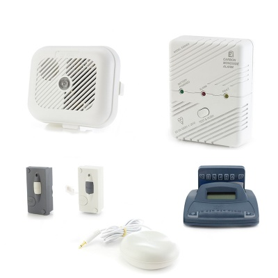 Silent Alert SA3000 Smoke, Carbon Monoxide, Telephone and Doorbell Alarm Pack with Alarm Clock Charger
