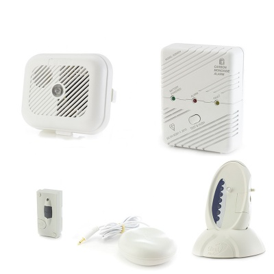 Silent Alert Signwave Smoke, Carbon Monoxide and Door Alarm Pack