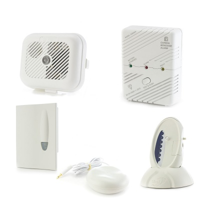 Silent Alert Signwave Smoke, Carbon Monoxide and Sound Monitor Alarm Pack