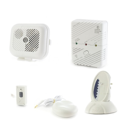 Silent Alert SignWave Smoke, Carbon Monoxide and Telephone Alarm Pack