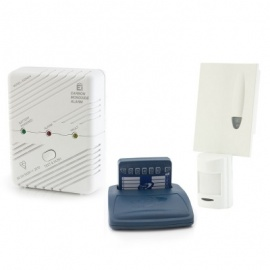Care Call Carbon Monoxide and PIR Movement Monitor Alarm System with Pager