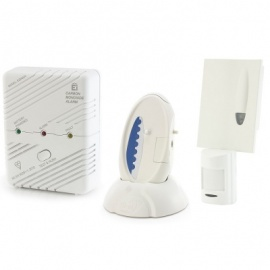 Care Call Carbon Monoxide and PIR Movement Monitor Alarm System with Signwave