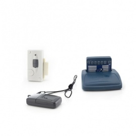 Care Call Emergency Key Fob and Magnetic Door Alarm System with Pager