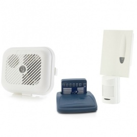 Care Call Smoke Alarm and PIR Movement Monitor System with Pager