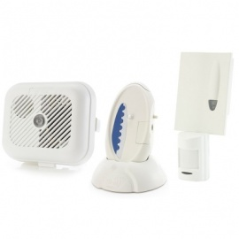 Care Call Smoke Alarm and PIR Movement Monitor System with Signwave