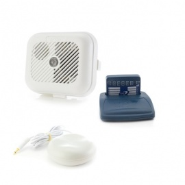 Care Call Smoke Alarm System with Pager and Vibrating Pillow Pad