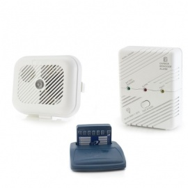Care Call Smoke and Carbon Monoxide Alarm System with Pager
