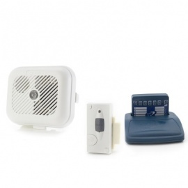 Care Call Smoke and Magnetic Door Alarm System with Pager