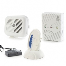 Care Call Smoke, Carbon Monoxide and Key Fob Transmitter Alarm System with Signwave