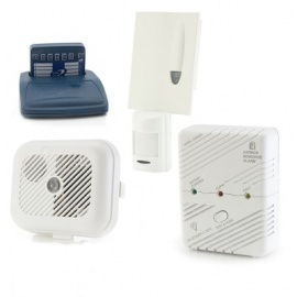 Care Call Smoke, Carbon Monoxide and PIR Movement Alarm System with Pager