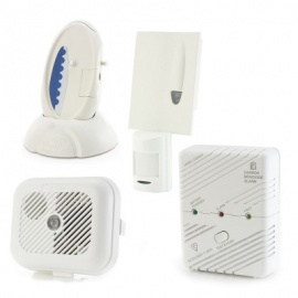 Care Call Smoke, Carbon Monoxide and PIR Movement Alarm System with Signwave