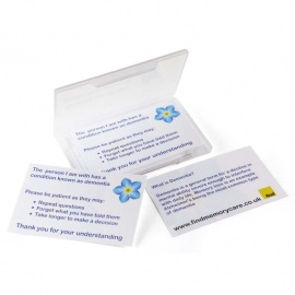 Dementia Patience Cards for Carers